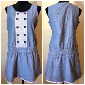 Anthropologie Gentle Fawn Chambray Boho Tank Dress